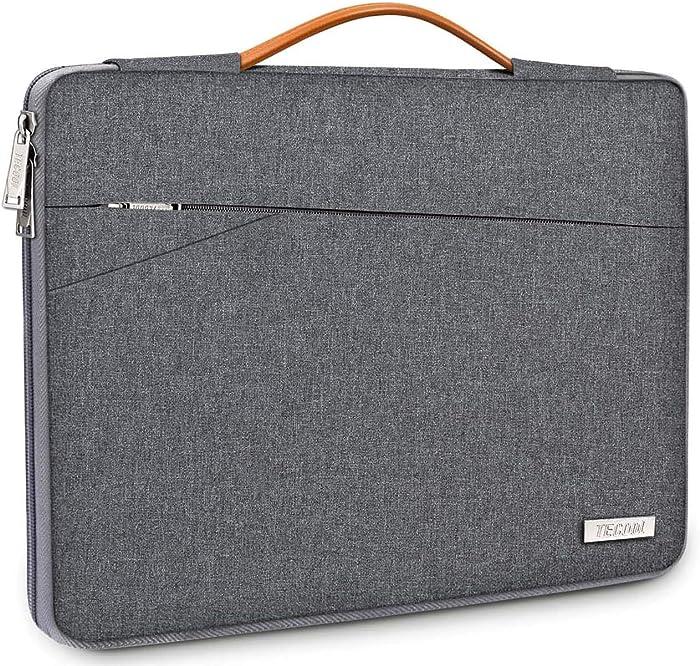 "TECOOL Laptop Sleeve Case with Handle for Ultra-Thin Laptops Lenovo Flex 5/Yoga C740 14"", HP Pavilion x360 14, ASUS VivoBook S14/ZenBook 14, Acer Swift 3 SF314, 13.5"" Surface Laptop/Book 3, Dark Grey"