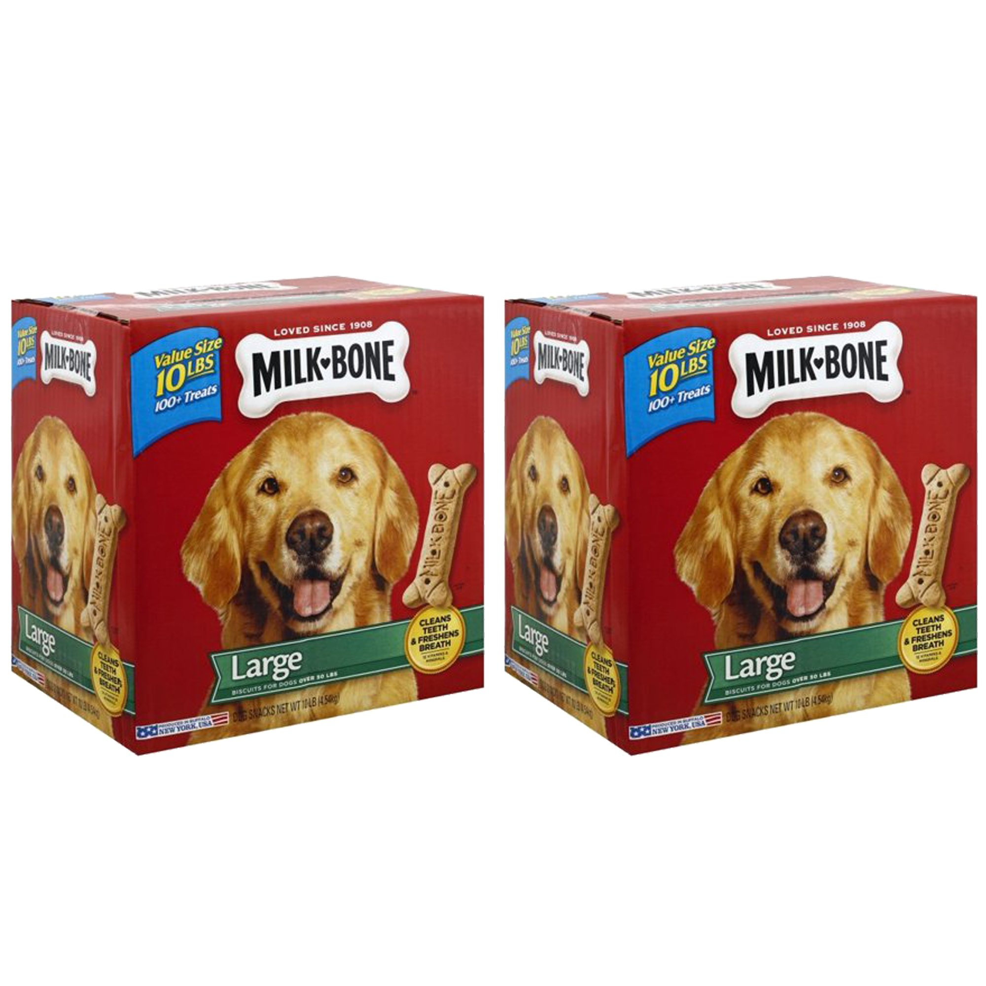 Milk-Bone Large Dog Biscuits, 10-Pound, 2-Pack