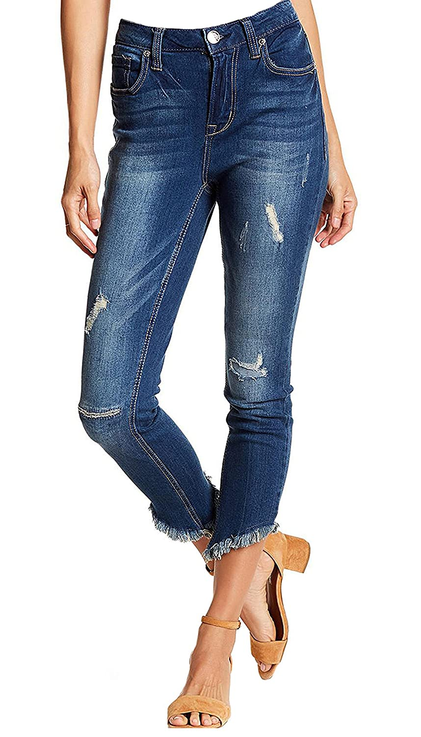 Seven7 Womens High Rise Ankle Skinny