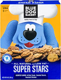product image for Blue Dog Bakery Natural Dog Treats, Super Stars, 10 Ounce Box (Pack of 6)