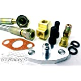 T4 Turbo Oil Feed Line Kit Universal Braided Adapter T04e T60 T70 Gt Kit T3 Auto Replacement Parts