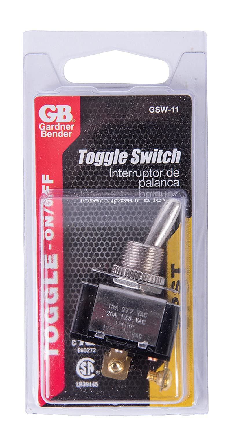 Gardner Bender Gsw 16 Toggle Switch Dpdt 20a 125v On Off 20 Amp Sealed Screw Terminal Spdt Onoffon Tools Home Improvement