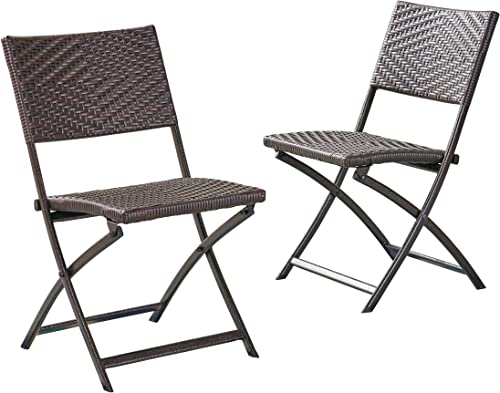 Christopher Knight Home El Paso PE Iron Dining Chairs, 2-Pcs Set, Multibrown