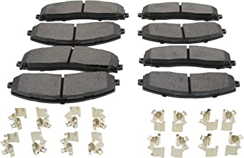 2013 2014 2015 2016 Fit Ford F-350 Super Duty Front /& Rear Ceramic Brake Pads