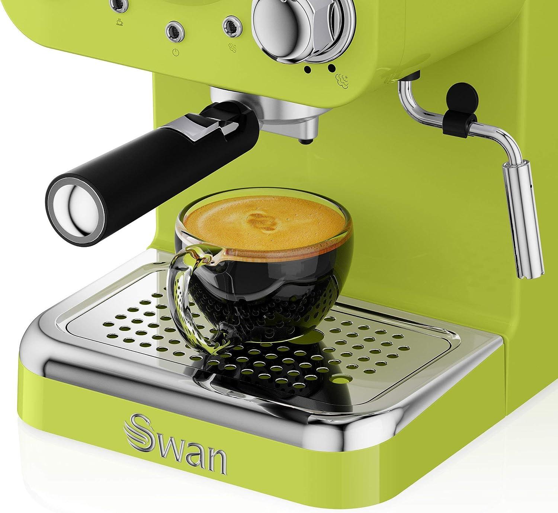 Swan cafetera Espresso SK22110LN, retro, color lima.: Amazon.es: Hogar