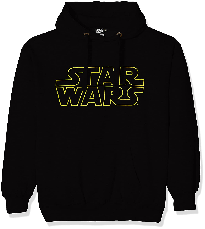 TALLA XXL. STAR WARS Basic Logo, Camiseta para Hombre