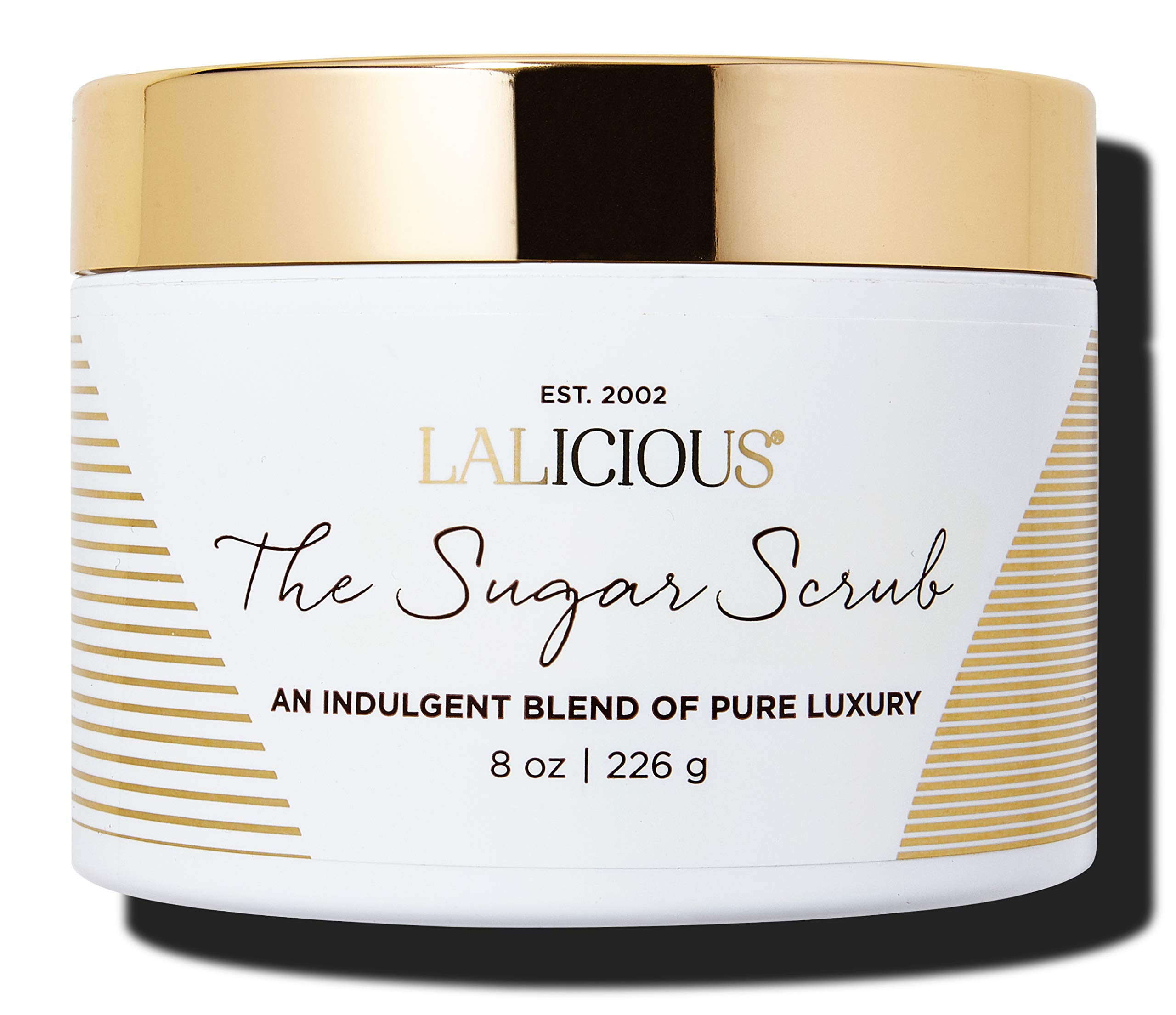 LALICIOUS The Sugar Scrub - Gentle Exfoliating Body Treatment with a Blend of Peach Nectar, Coconut Milk & Creamy Musks (8 Ounces)