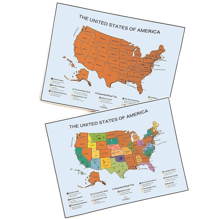 Scratch Off Map of The World + Bonus Premium Scratch Off USA Map ...