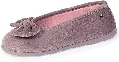 Isotoner - Zapatillas de bailarinas con brillantes para mujer