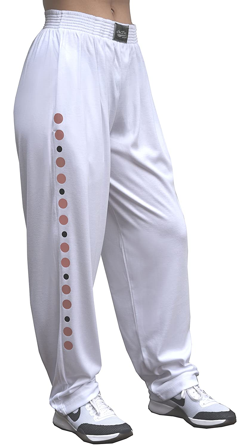 e228e52dcc2c Classic Soft White Relaxed Fit Baggy Pants For Men And Women With Universal  Rose Gold Design at Amazon Women's Clothing store: