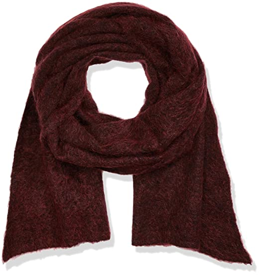 Stefanel Womens Sciarpa Misto Mohair Scarf, Red (1485 Rosso), One Size Stefanel