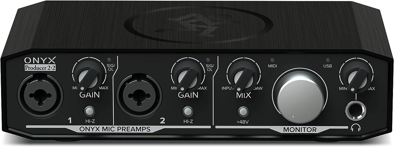 Mackie Audio Interface, Onyx Producer 2X2 USB Audio Interface with MIDI (Onyx Producer 2-2)