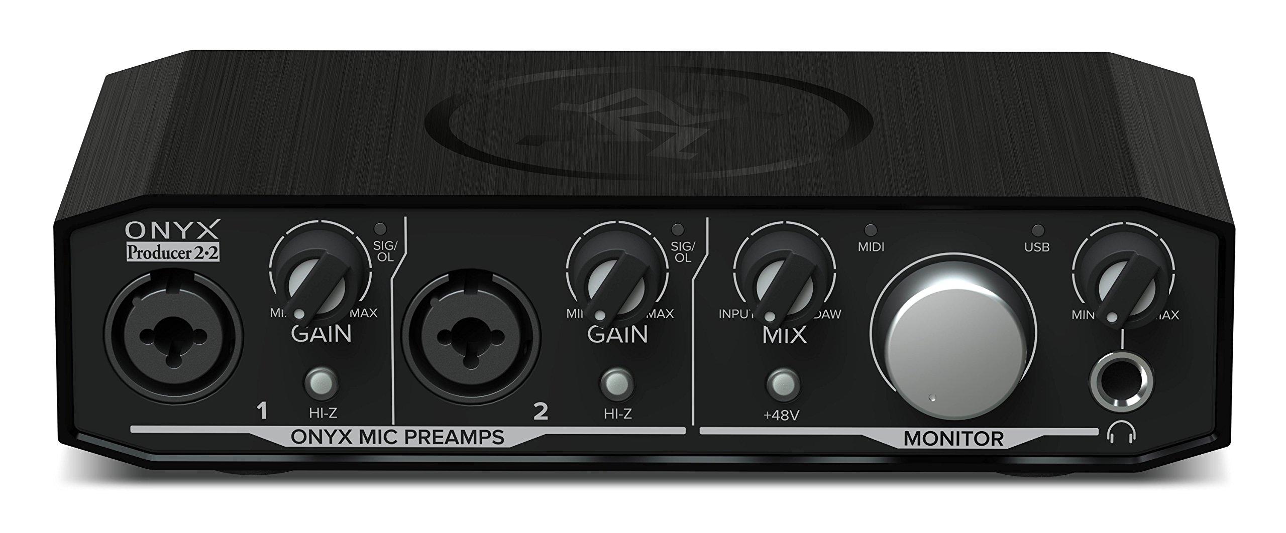 Mackie Onyx Producer 2-2 2x2 USB Audio Interface With MIDI