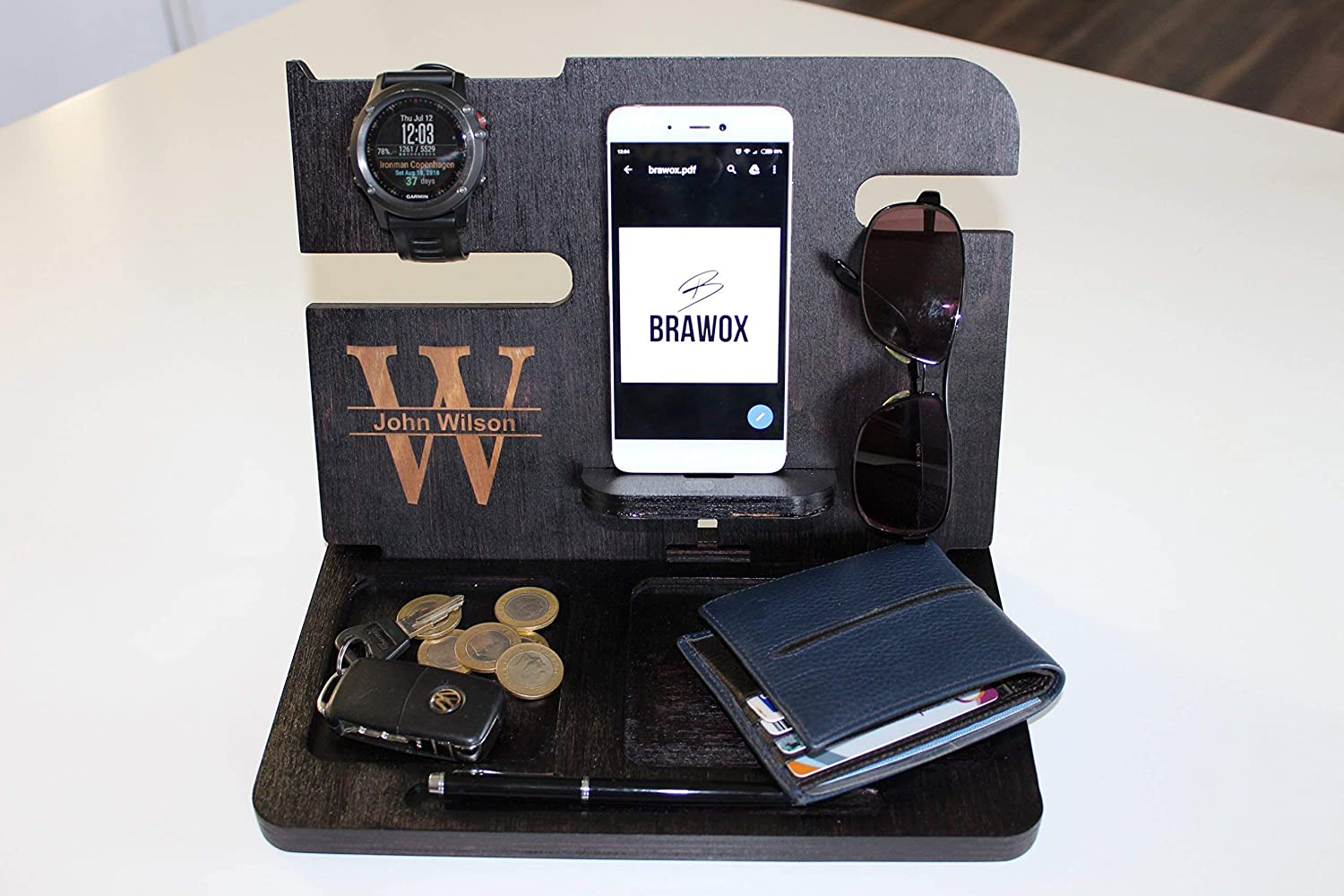 Amazon Com Gifts For Men Mens Christmas Gifts Gifts For Him Gifts For Dad Personalized Mens Mens Wood Organizer Gift Ideas For Men Husband Gifts Handmade