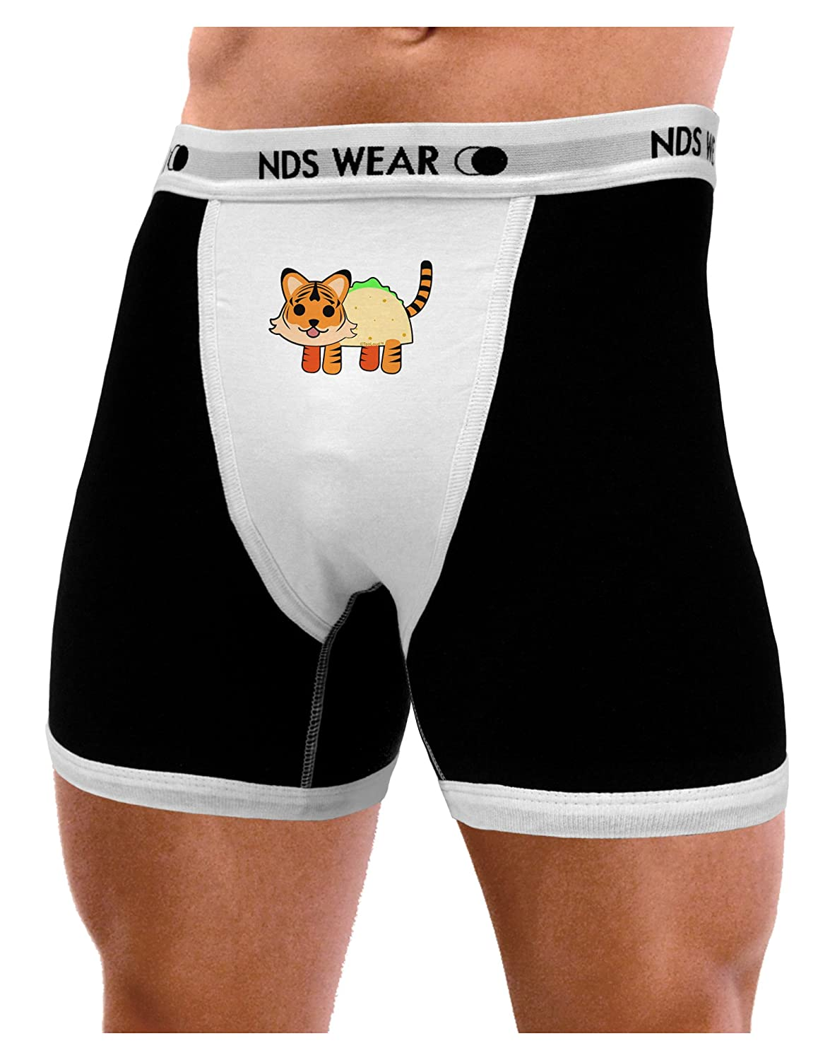 NDS Wear TooLoud Cute Taco Tiger Mens Boxer Brief Underwear