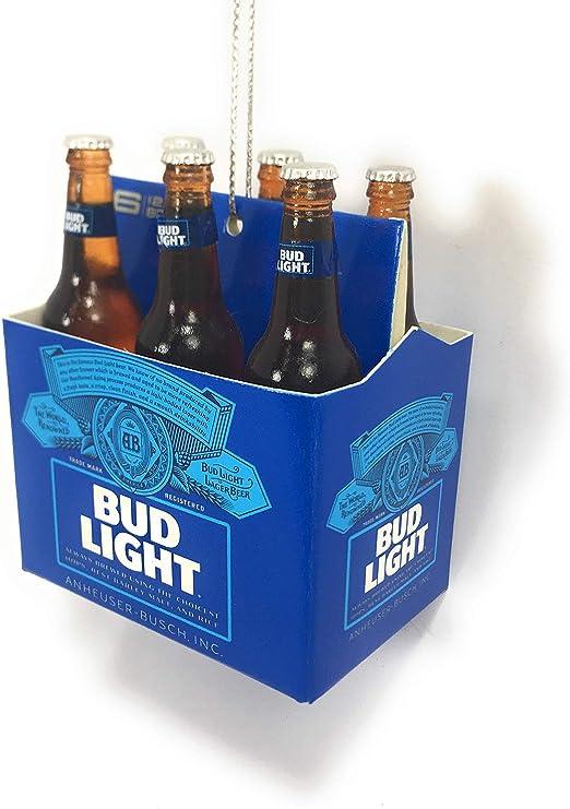 Kurt Adler 6 Pack Bud Light Beer Bottles Christmas Tree Ornament Anheuser-Busch AB2111 New: Amazon.es: Hogar