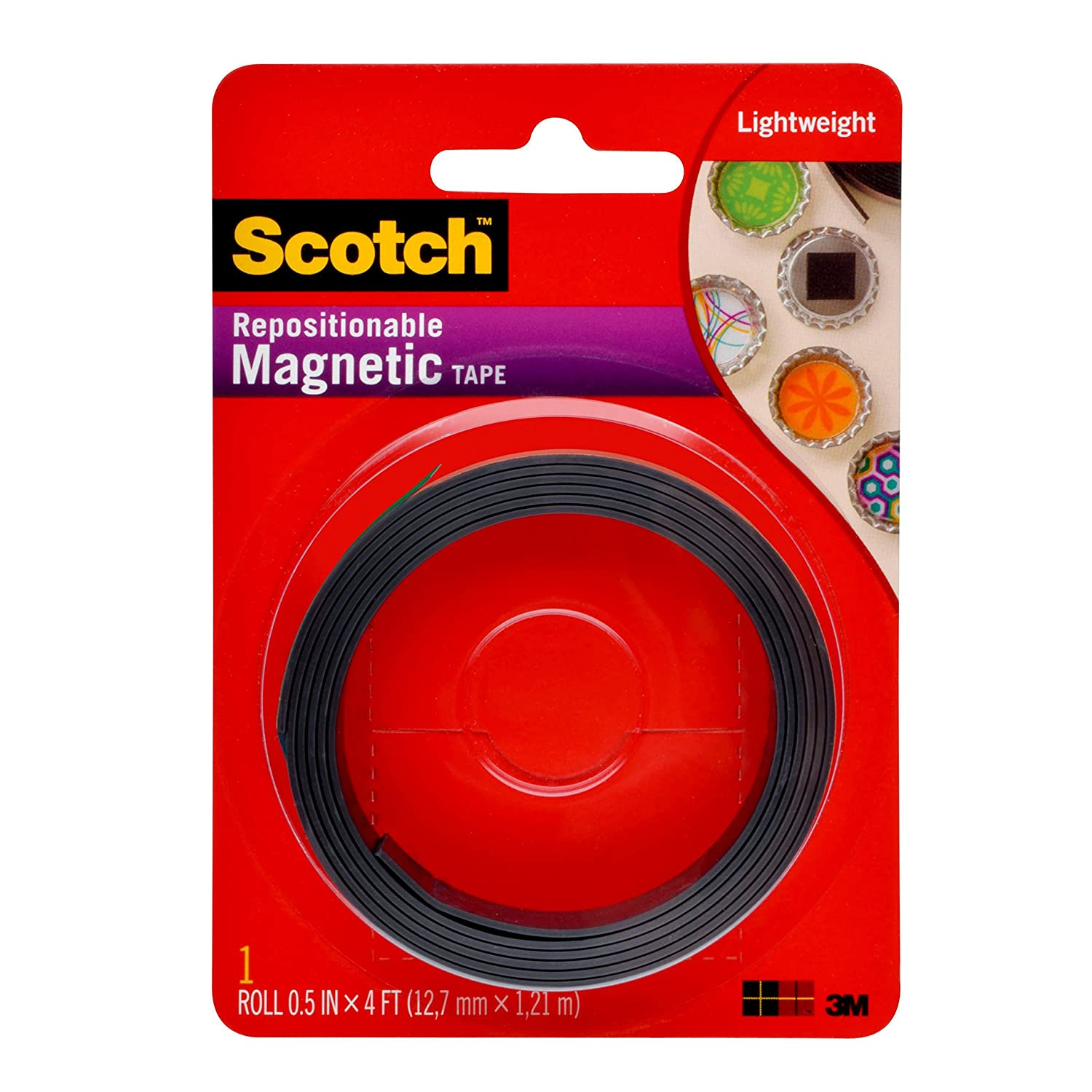 Scotch 0.5-Inch x 4-Feet Magnetic Tape (MT004.5)