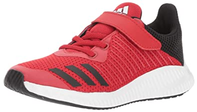 buy popular 8b308 c5353 adidas Originals Boys  Fortarun EL Running Shoe, Scarlet Black White, 2.5