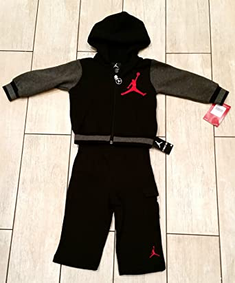 ... timeless design 697b6 b9d79 Nike Air Jordan Baby Boys Full Tracksuit  Sweatshirt Jacket Bottoms (18 ... a8936c440