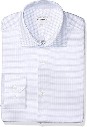 Perry Ellis - Camisa de vestir para hombre - Azul - 37 cm ...