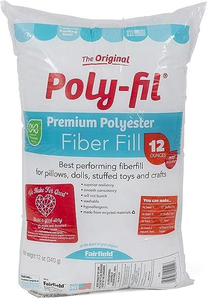 White 12 oz Fairfield FAIPFT12 Fiber Poly Fil Bag