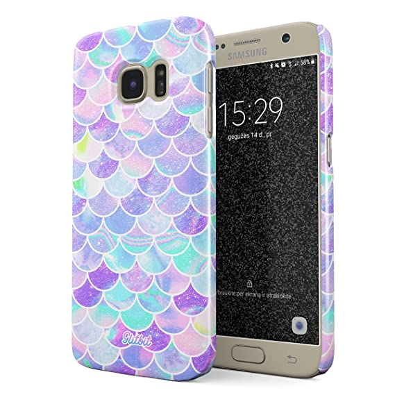 new arrivals 1ef7d 63dc3 Amazon.com: Glitbit Compatible with Samsung Galaxy S7 Case Mermaid ...