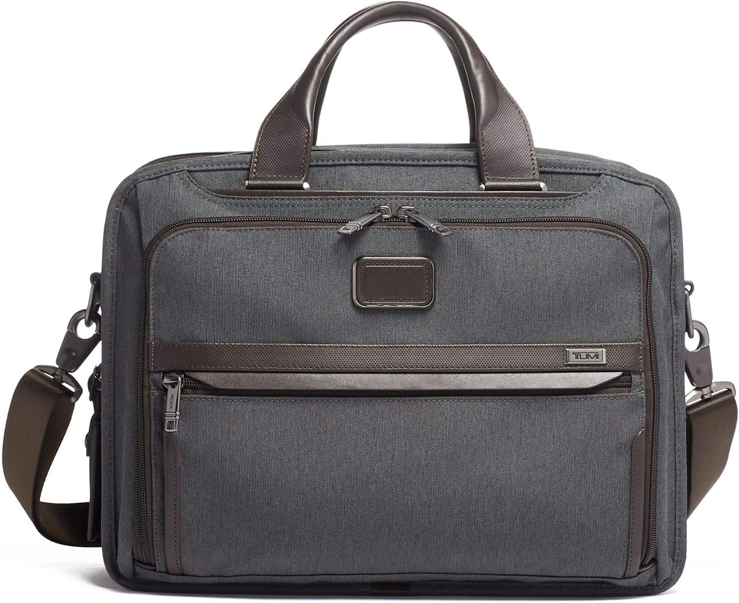 TUMI - Alpha 3 Organizer Laptop Briefcase - 15 Inch Computer Bag for Men and Women - Anthracite