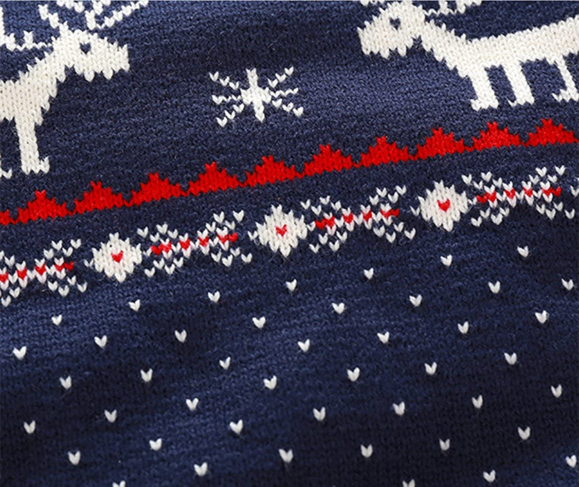 3T, Navy BESTERY Unisex Kids Knitted Fireplace Lovely Raindeer Sweater Pullover Jumper for Christmas Party Photograph Best Gift