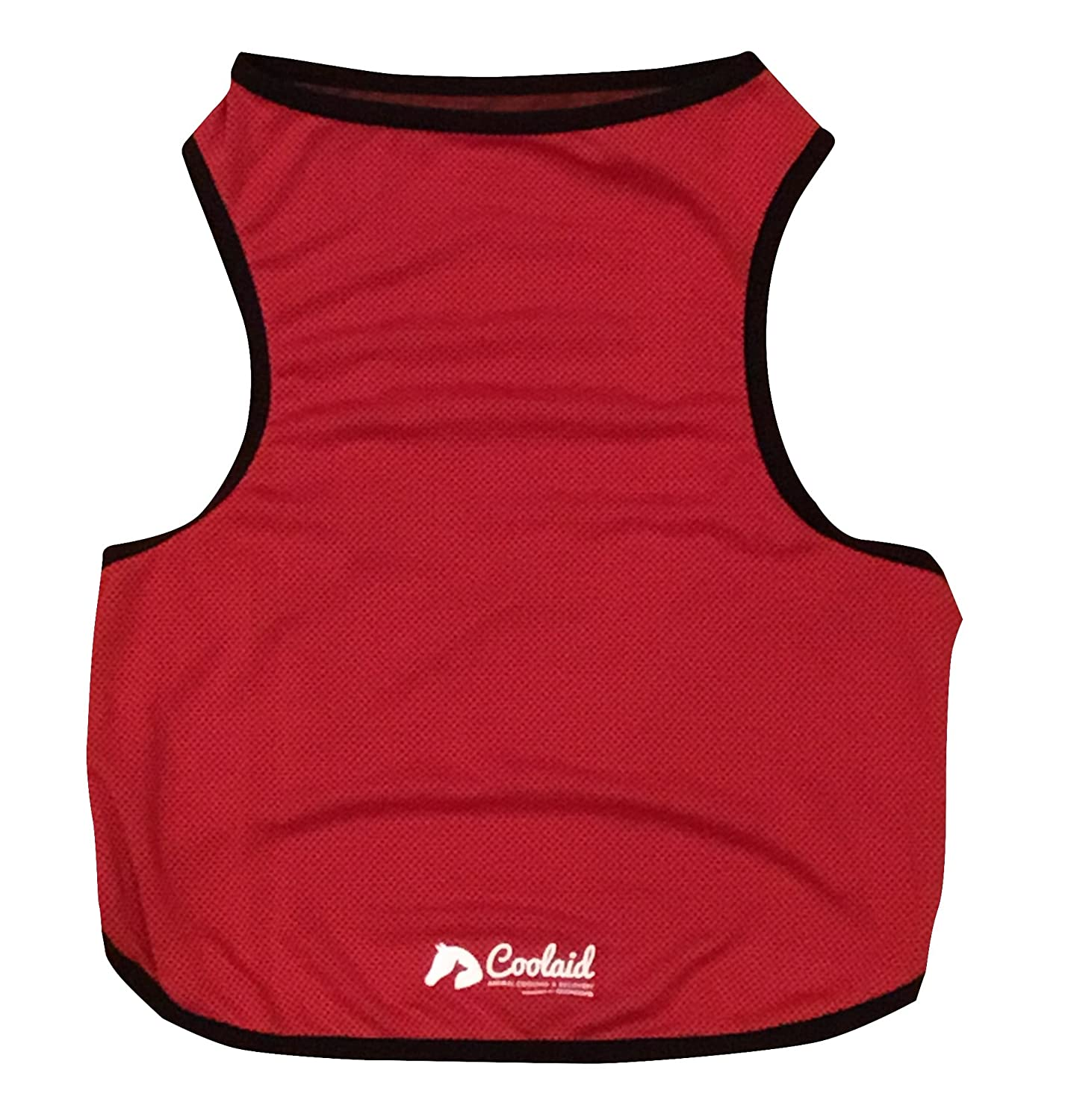 Red Coolaid Dog Cooling Vests Available in Small, Medium, Large, XXL