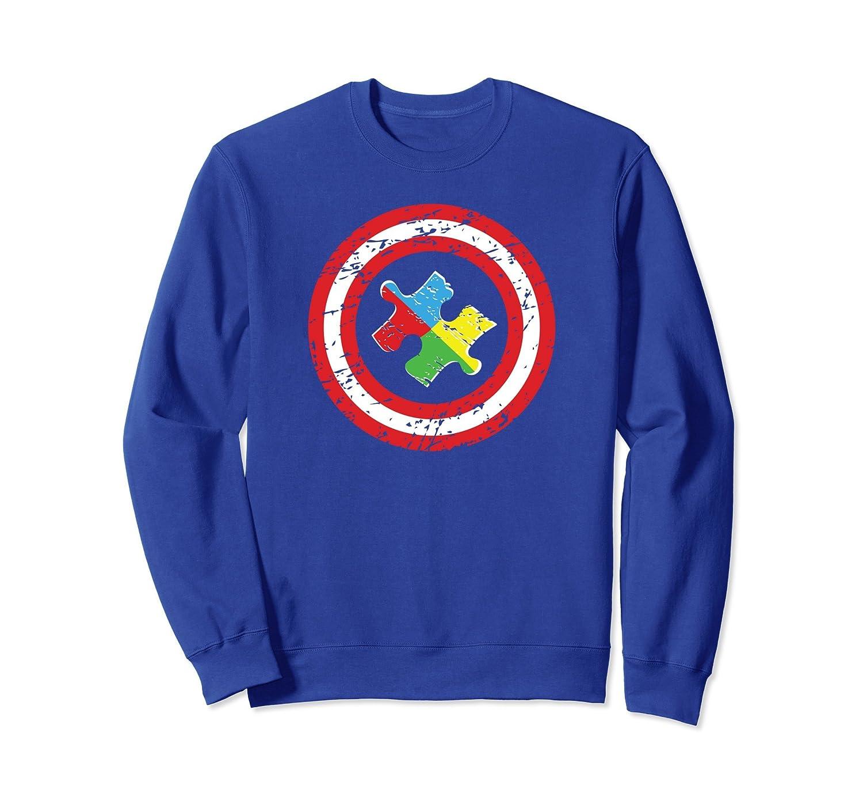 Autism Awareness Superhero Sweatshirt for Kids Dads Moms-anz