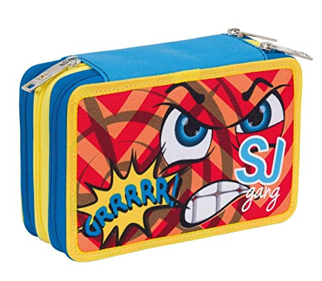 Estuche Escolar 3 Pisos - SJ Face Multi Compartimentos con ...