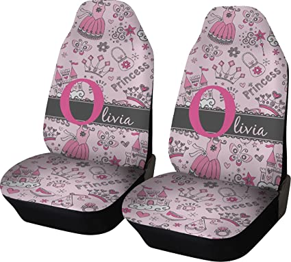RNK Shops Princess Car Seat Covers Set Of Two Personalized