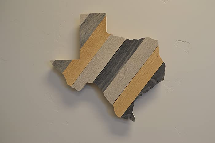 Amazoncom Texas Rustic Rustic Wooden State Cutout Sign Wall Art