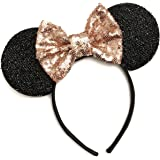 Rose Gold Mickey Ears, Sparkly Mickey Ears, Rose Gold Minnie Ears, Rose Gold Ears, Minnie Ears, Rose Gold Mickey Ears