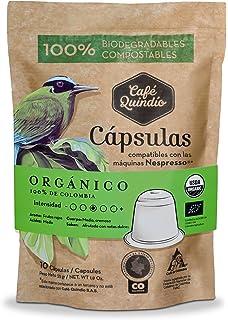 ORGANIC Coffee Capsules, Coffee Quindio, Nespresso (Compatible),100% Colombian Coffee