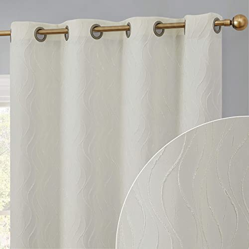 HLC.ME Camden 100 Complete Full Blackout 2 Layer Heavy Winter Heat Thermal Insulated Energy Efficient Noise Reducing Window Curtain Grommet Panel