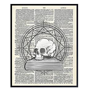 Occult, Wicca, Wiccan, Esoteric Arts Goth Gothic Home Decor - Creepy Vintage Mystical Wall Art Poster Print- Cool Unique Gift - 8x10 UNFRAMED