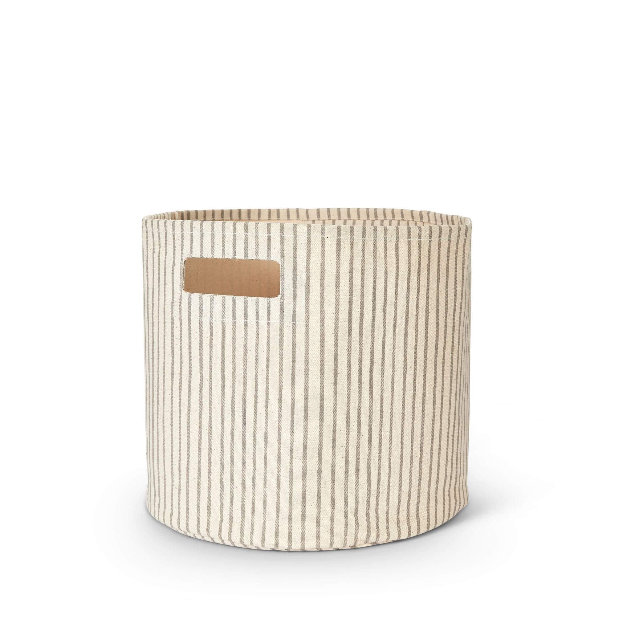 Pehr Stripes Away Bin - Pebble, Multi