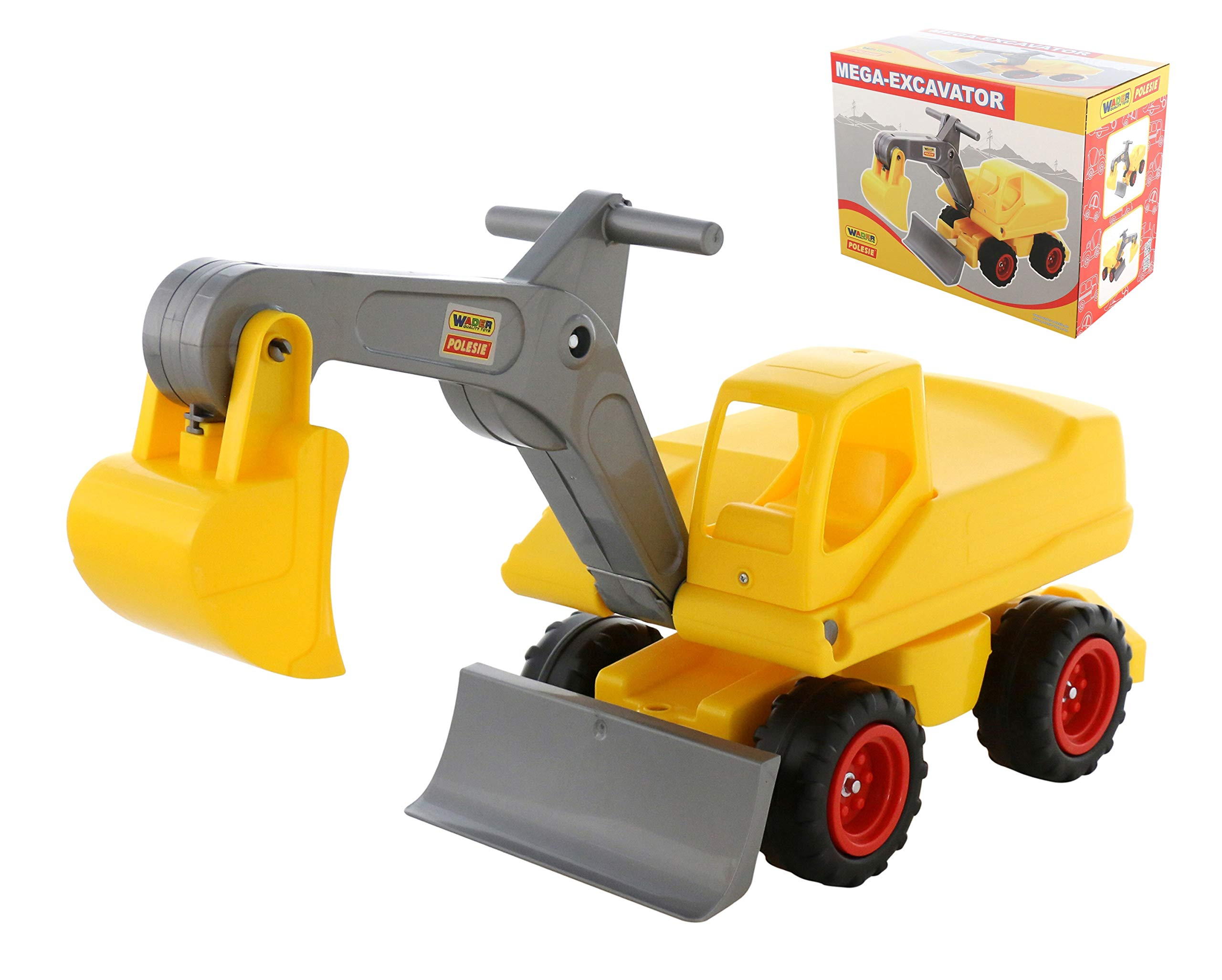 Polesie 66220 Mega-Excavator with Seat (Box) -Toy Vehicless, Multi Colour