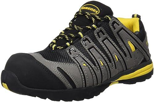 Paredes SP5027 GR36 Helio S1P SRA - Zapatos flexibles de seguridad deportivos con cordones, Negro