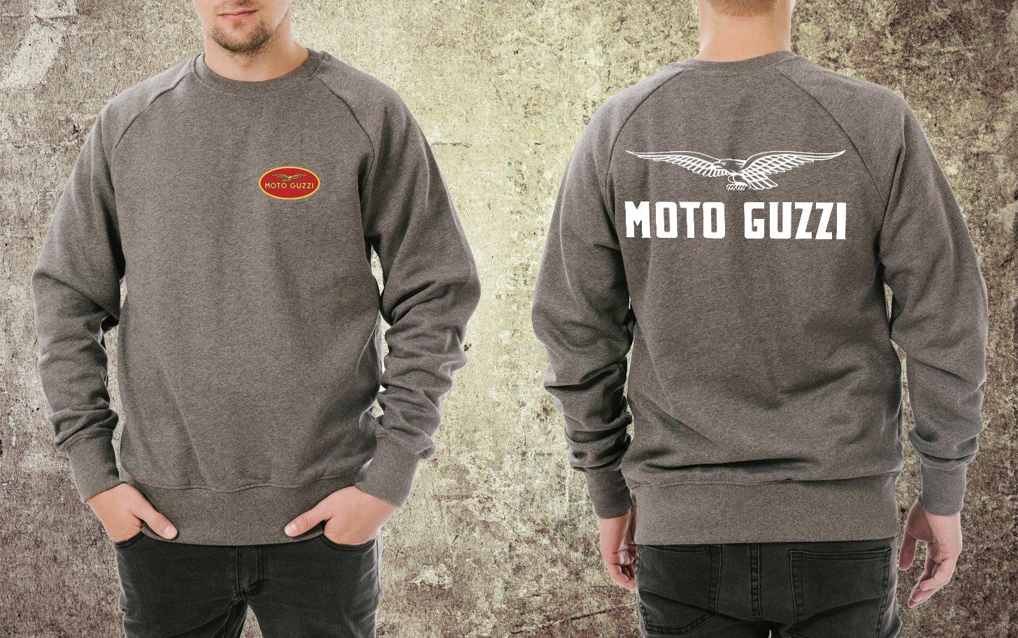 Felpa Moto Guzzi manica lunga girocollo Taglia M Adesiviautoemoto