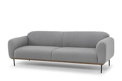 Amazon.com: Nuevo Benson Triple Seat Sofa in Black and Gray ...