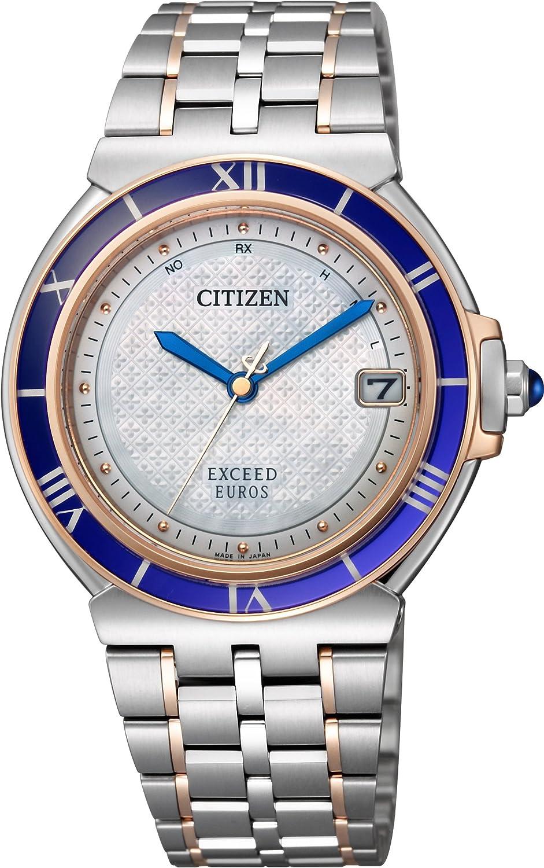 [シチズン] 腕時計 エクシード Euros ユーロス エコ・ドライブ 電波時計 ペアモデル AS7075-54A シルバー