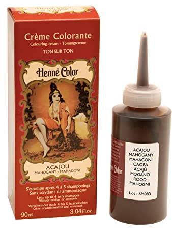 Henne Color Mahogany Henna Hair Colouring Cream 90 Ml Amazon Co Uk