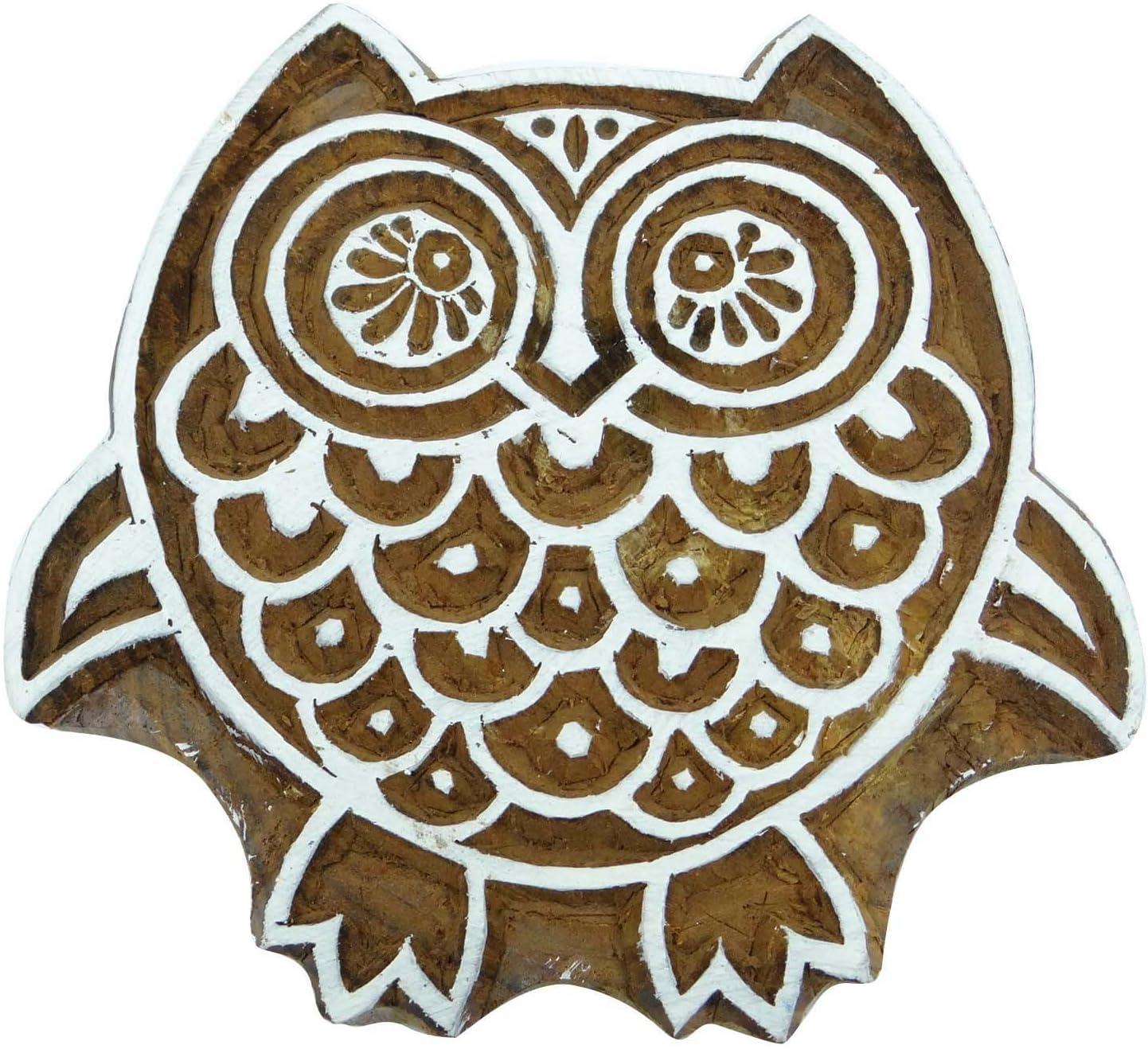 Scrapbook Stamp Decorative Blocks Wooden Textile Stamps Owl Printing Block
