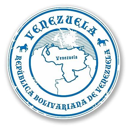 2 x 10 cm Venezuela adhesivo de vinilo para ordenador portátil coche viaje equipaje tarjeta bandera