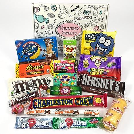 Geschenkkorb mit amerikanischen Süßigkeiten   Retro Schokoriegel und ...