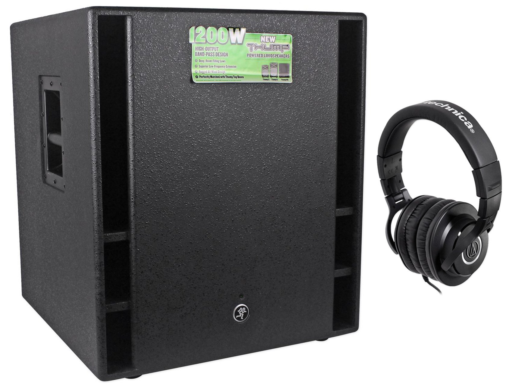 Mackie THUMP18 THUMP-18 18'' 1200w 18'' Powered Subwoofer Sub+Free Headphones by Mackie