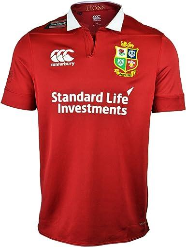 Canterbury Camiseta para Hombre con VapoShield, British and Irish Lions, Hombre, Vaposhield Matchday, Tango Red, XL: Amazon.es: Ropa y accesorios