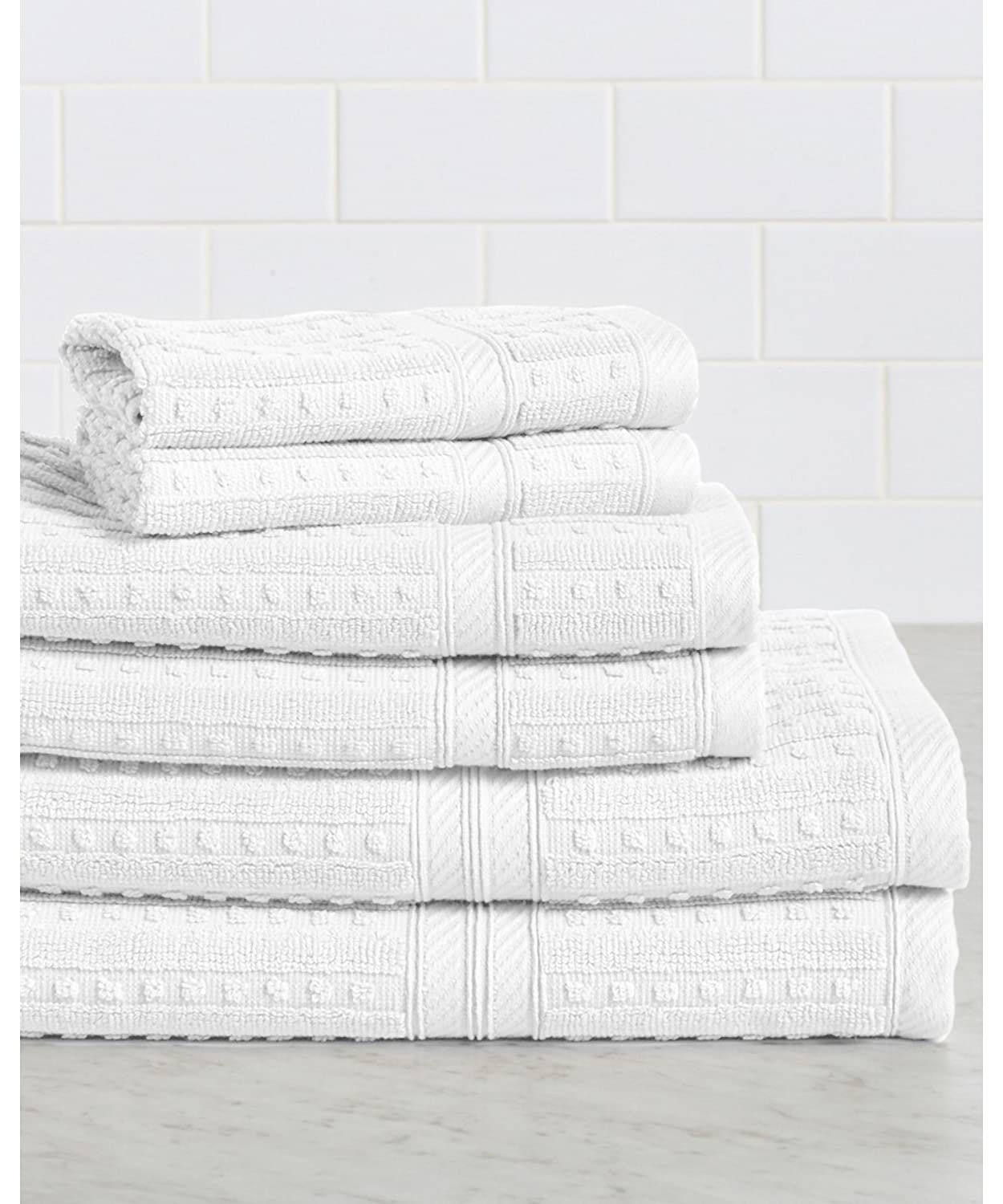 HomeCrate Naples 100% Cotton 6 Piece Towel Set - Coral - Hotel Quality, Super Soft Highly Absorbent 4335341119